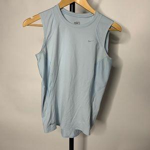 Nike Blue Sleeveless Workout Athletic Tank Top